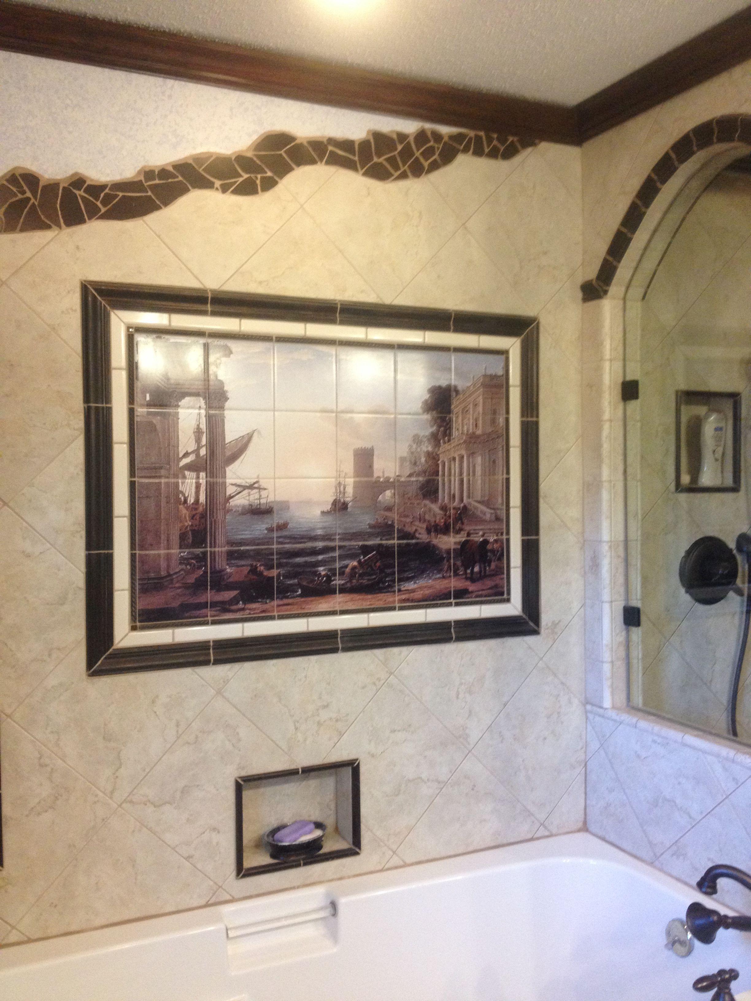 bathroom tile mural tile murals