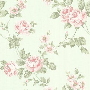 e0951468d0 York Wallcoverings SH5509 Vintage Luxe Floral Trail Wallpaper