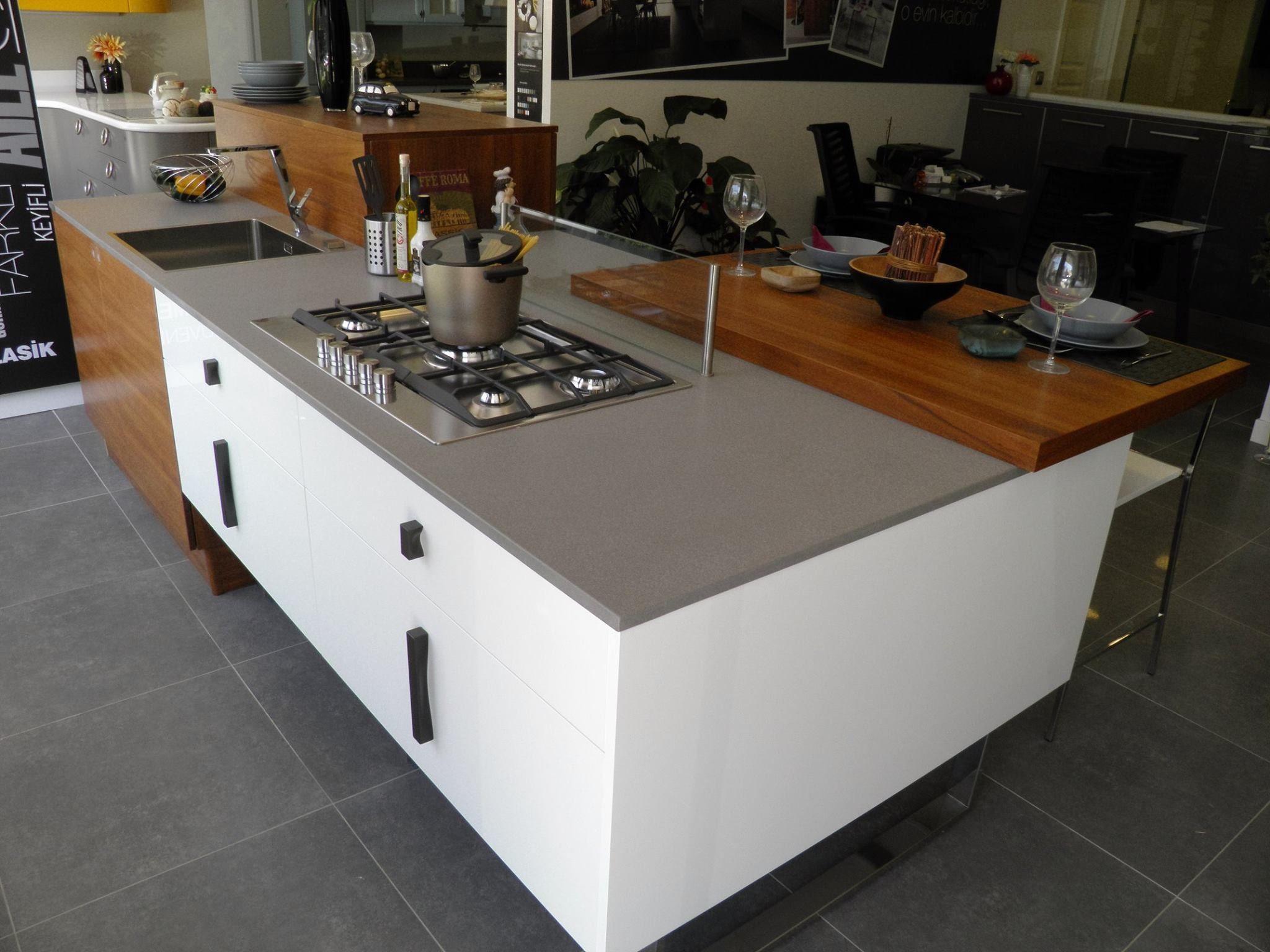 Kitchen countertops silestone grey expo silestone urban for Silestone grey expo