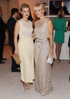 Mother Of The Bride Dress On The Left With Images Stylish Celebrities Dress And Heels Lacey Dress