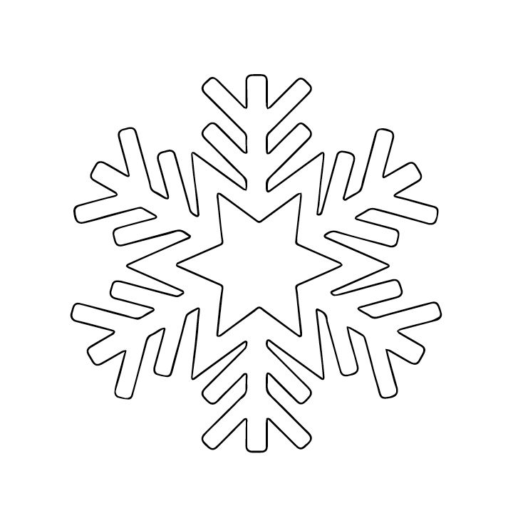 Bright Light Snowflake Canvas  Snowflake Template Template And