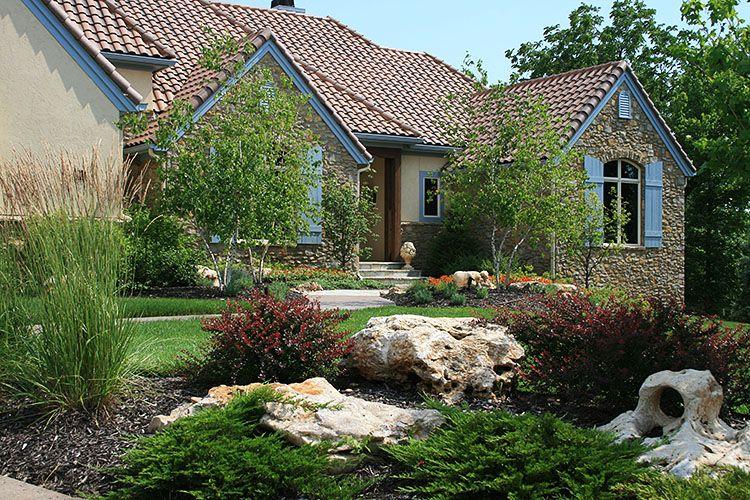 Landscaing Landscape Design Natural Stone Lenexa Kansas Ks Landscape Design Modern Landscape Design Garden Landscape Design