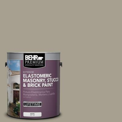 BEHR Premium 1 Gal. #MS 52 Timber Elastomeric Masonry, Stucco And Brick  Paint