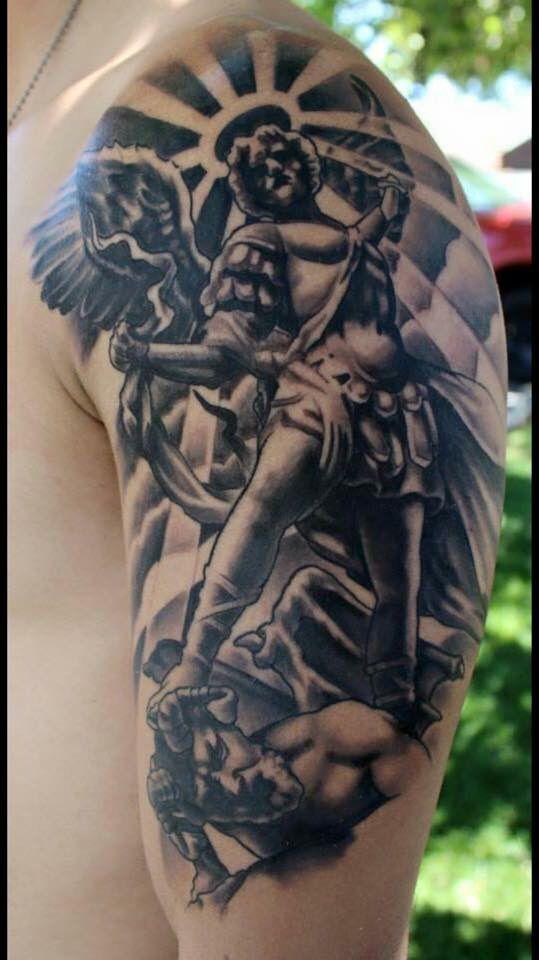 Battle Of Good Vs Evil Tattoos Tatting
