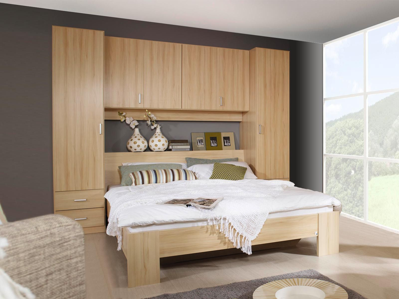 t te de lit avec rangement avec tag re lit pont. Black Bedroom Furniture Sets. Home Design Ideas