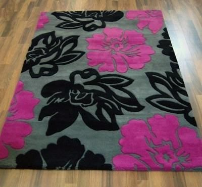 Fuschia Black And Grey Rug Perfect Colors Wendy Ellis Modern