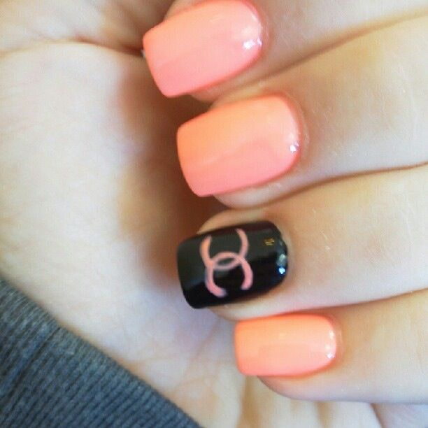 Chanel nail design.