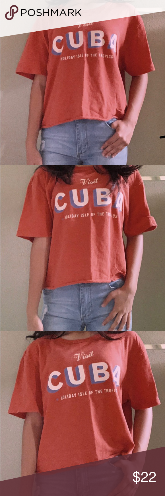 Visit Cuba Holiday Isle of The Tropics Cropped Tee Visit Cuba Holiday Isle of The Tropics Cropped Tee Dark Orange-Red Color Lucky Brand Tops Crop Tops #visitcuba Visit Cuba Holiday Isle of The Tropics Cropped Tee Visit Cuba Holiday Isle of The Tropics Cropped Tee Dark Orange-Red Color Lucky Brand Tops Crop Tops #visitcuba