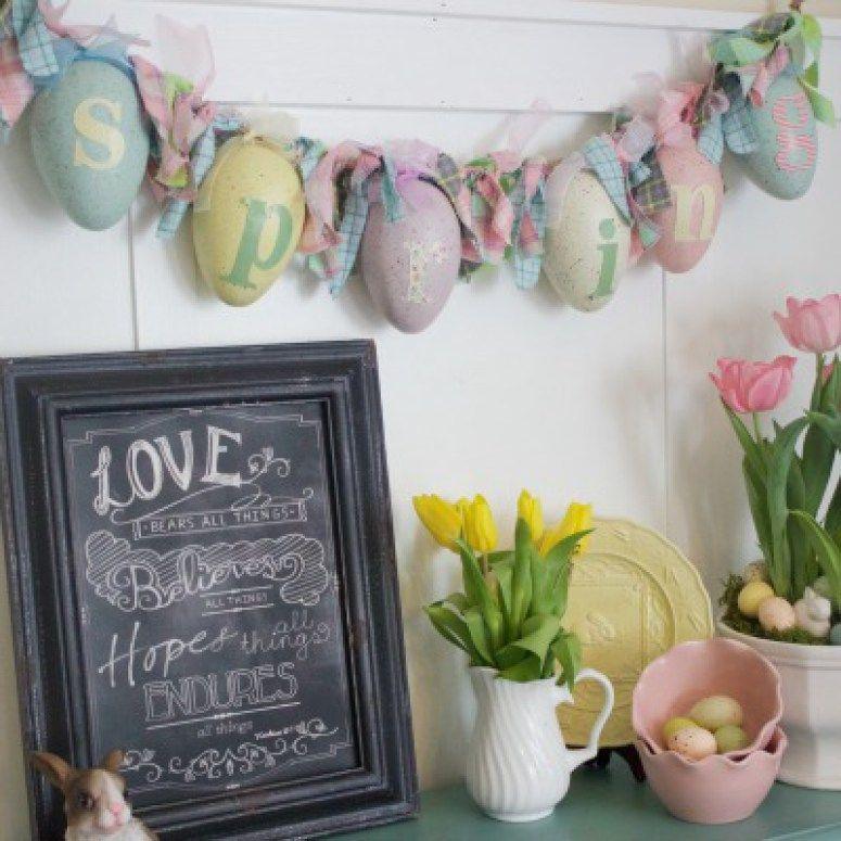 400 Easter Egg Garland