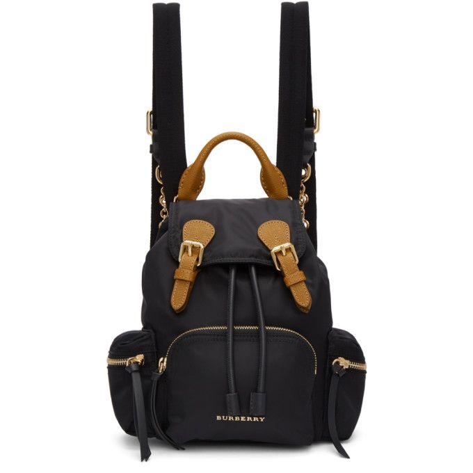 Small Nylon Rucksack Bag in Black Nylon Burberry 7eftvIELI4