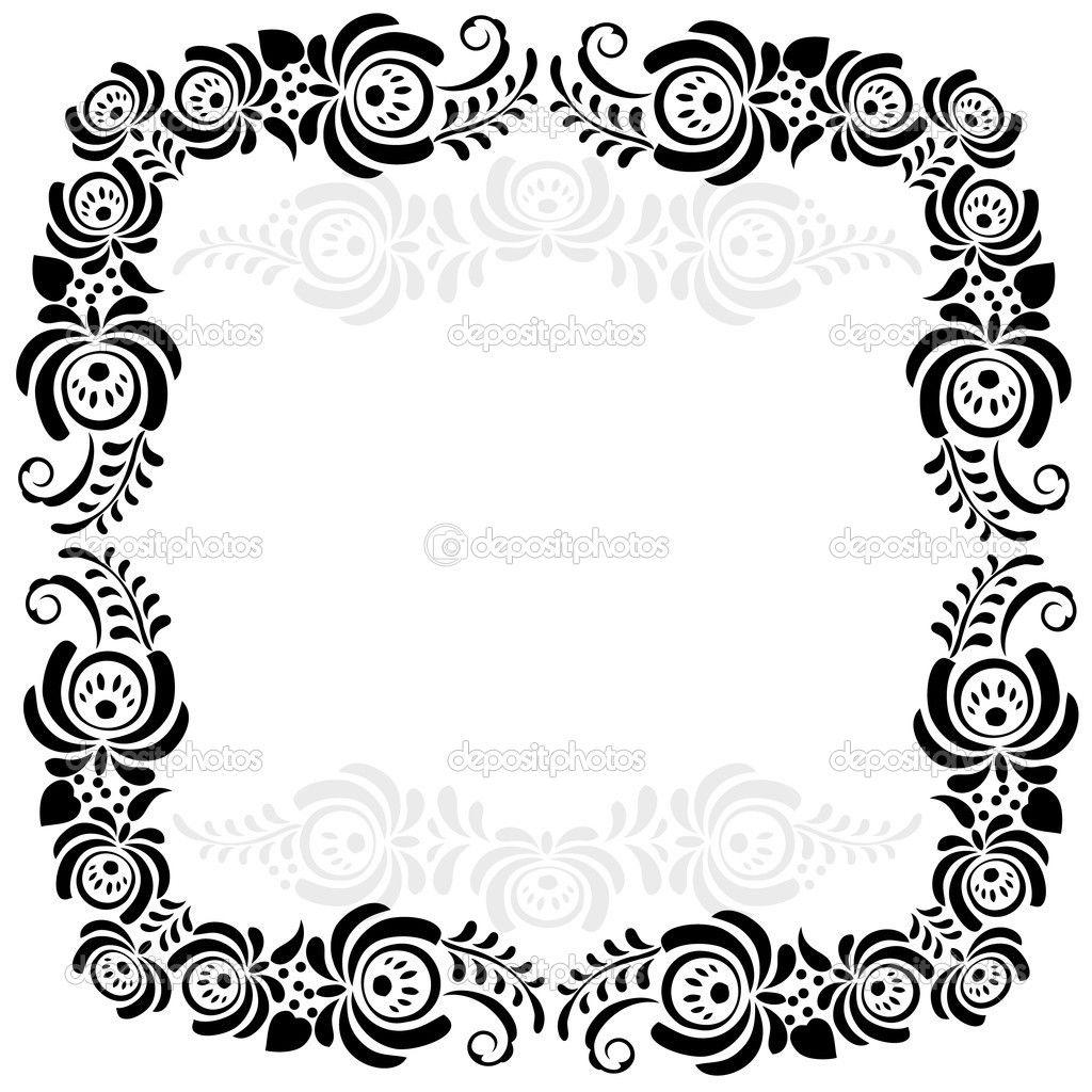 Resultado de imagen para marcos decorativos para hojas en blanco y ...