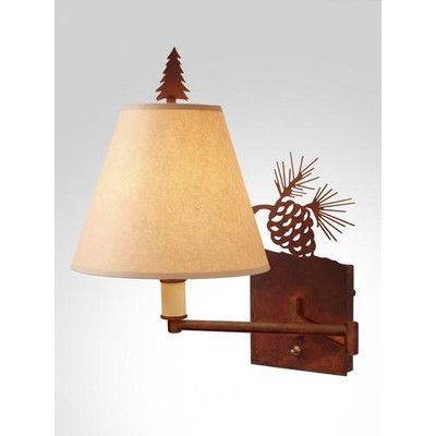 Steel partners pinecone swing arm wall lamp finish architectural bronze shade lens