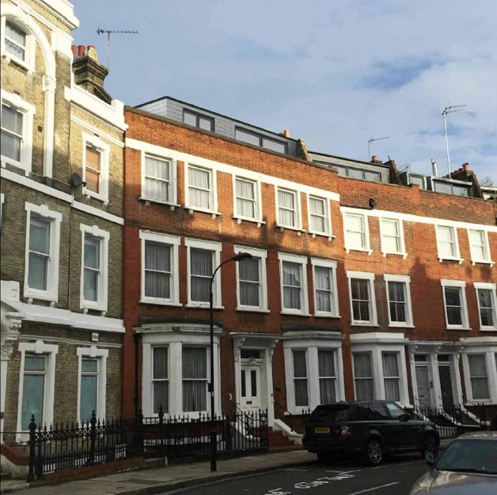 Mansard Roof Extension Including Roof Terrace in the London Borough of Hammersmith and Fulham