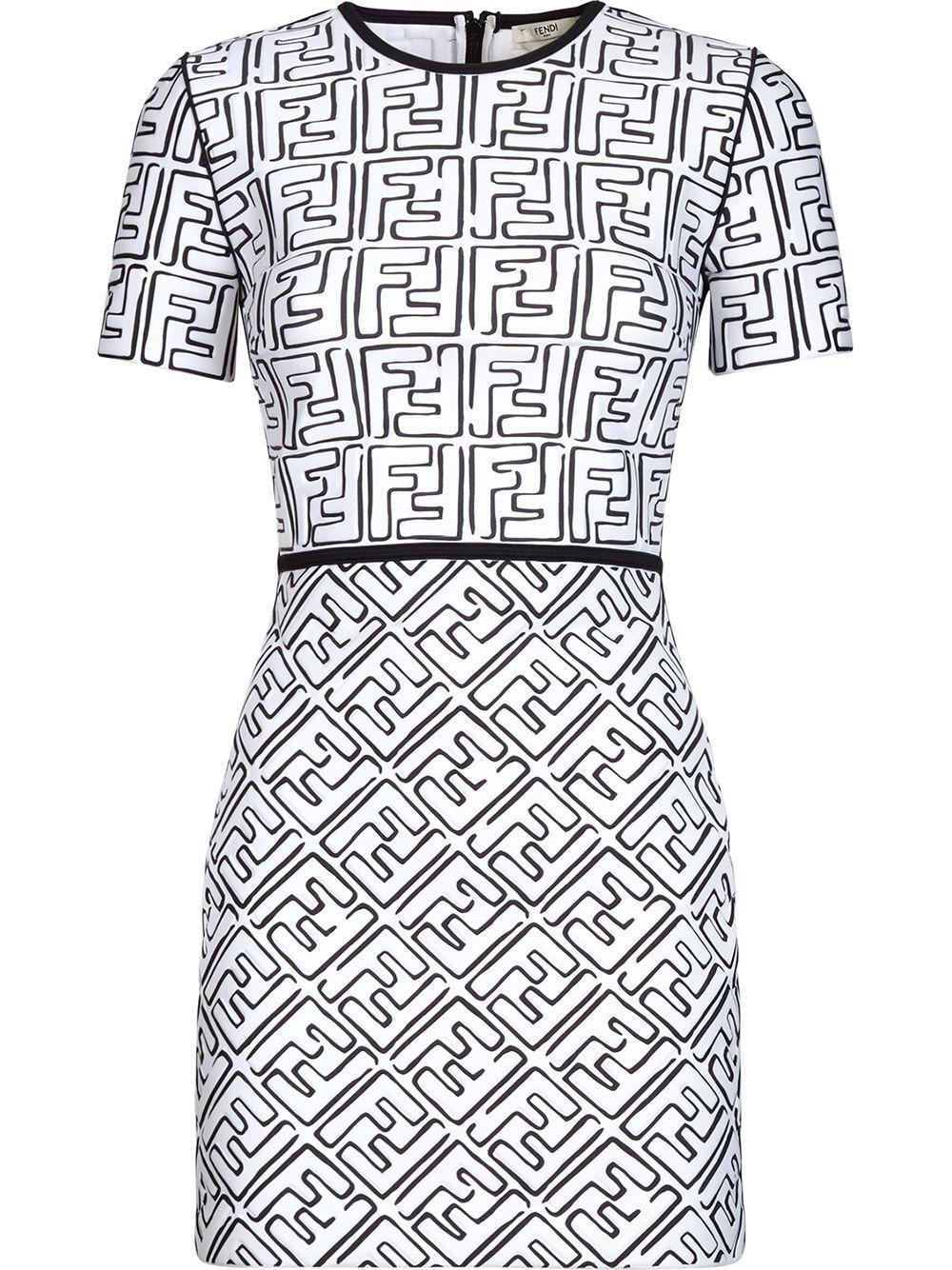 Fendi X Joshua Vides Ff Print Dress Farfetch Fendi Dress Fashion Clothes [ 1334 x 1000 Pixel ]