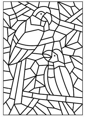 Jornal Ponto Com Mosaicos Para Colorir Desenho De Mosaico