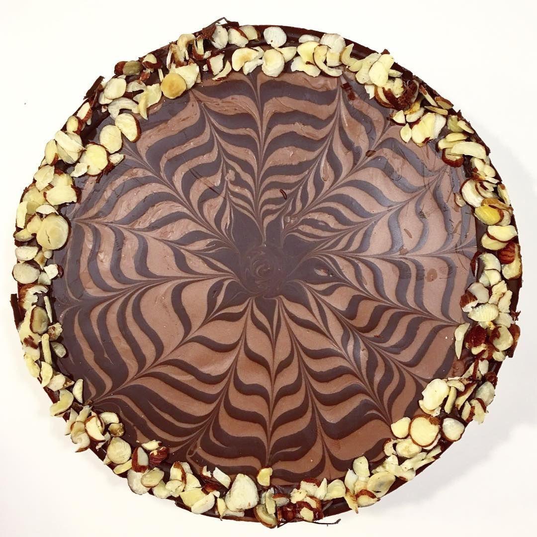 "Banana cake with chocolate top 🍌Banankage med chokolade ""glasur"""