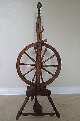 Antique Upright Spinning Wheel Castle Flyer Style Spindle Vintage Yarn Spinning Wheel Antiques