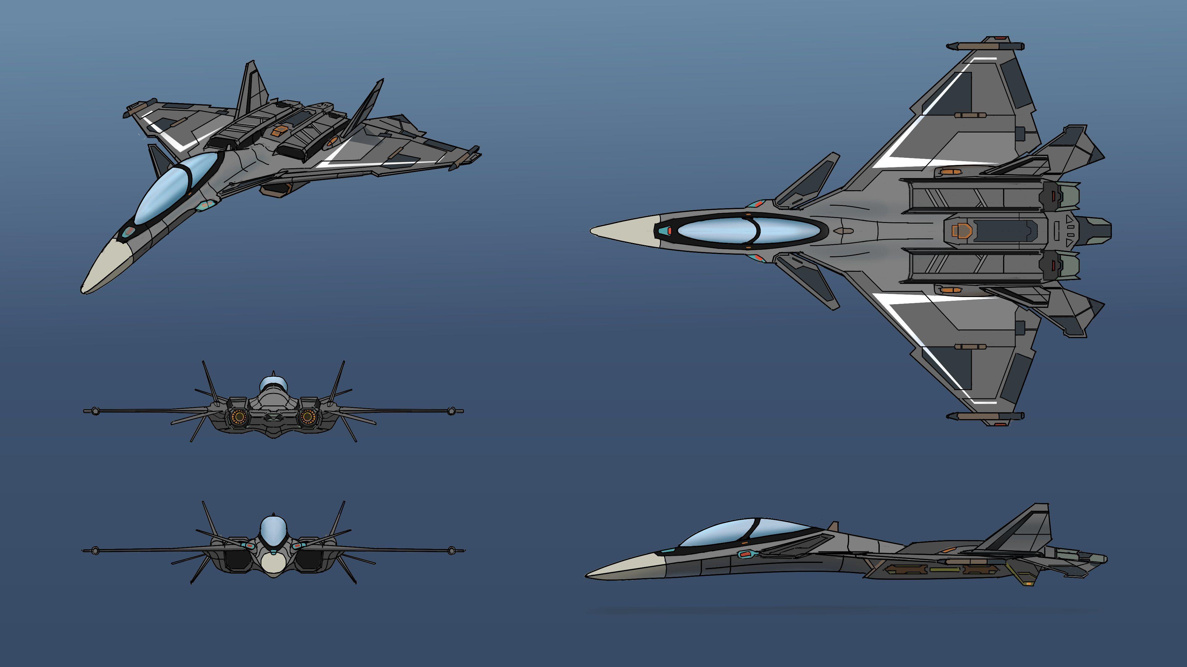 Fighter jet ortho #digitalart #digitaldrawing #digitalsketch #artists #digitalpainting #digitalillustration #PaintstormStudio #artwork #krita #conceptart #conceptdesign #gameart #plane #drawing #propdesign #paintstorm #sketch
