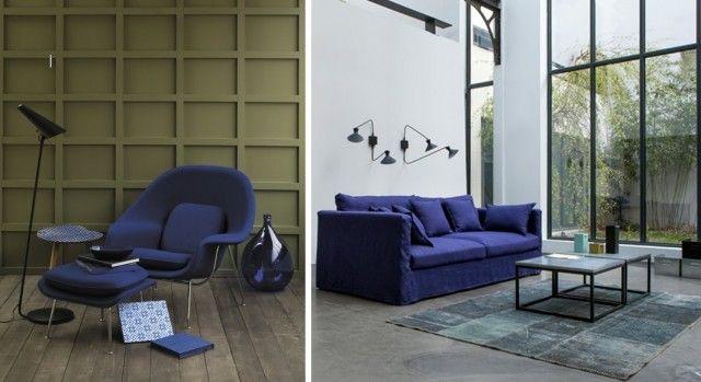 30 intérieurs bleu marine   Salons
