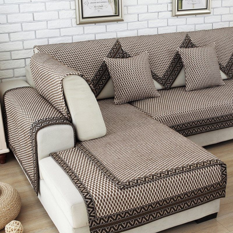 Modern Brief Style Dark Color Fabric Sofa Cover Capa De Sofa Forro De Sofa Capa Pra Sofa