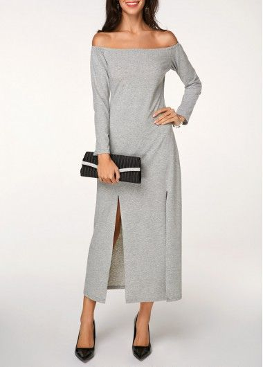ad601d256746b One Shoulder Top and Front Slit Belted Skirt