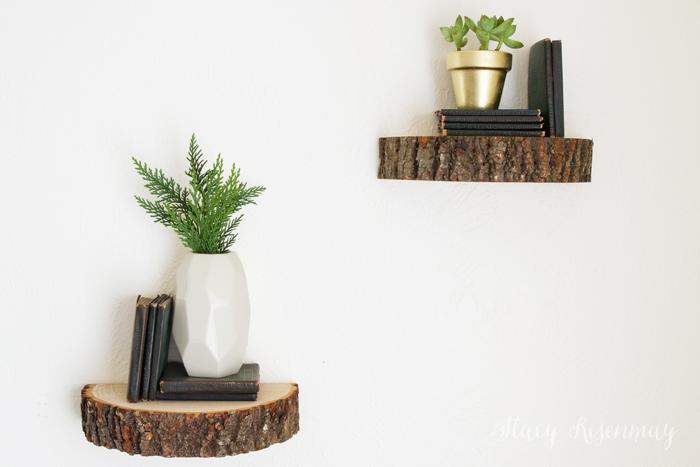 Wood Slice Styled X3 Stacy Risenmay Wood Slices Bookshelves Diy Dark Wood Furniture