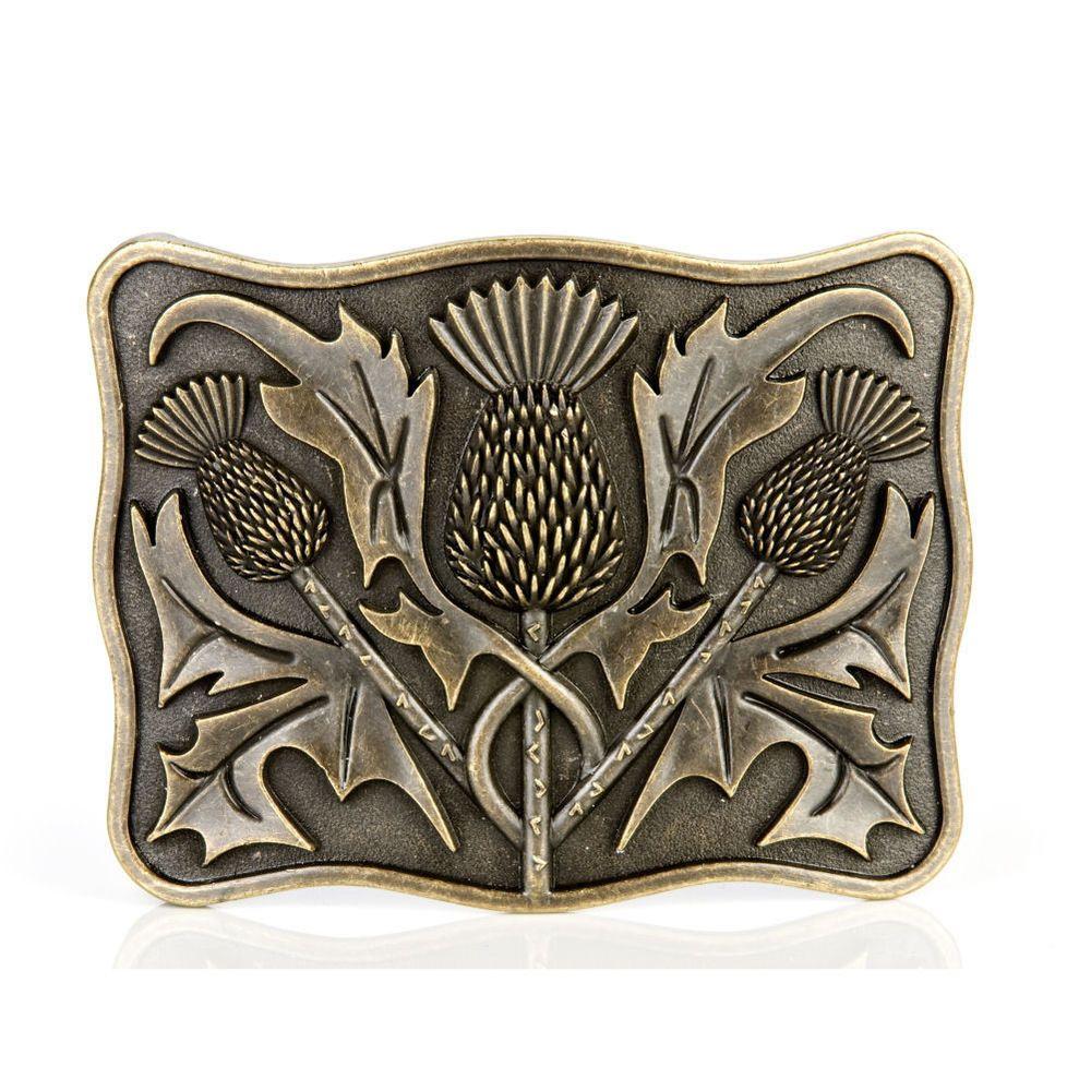 Stunning Traditional Scottish Celtic Thistle Kilt Pin Antique Finish