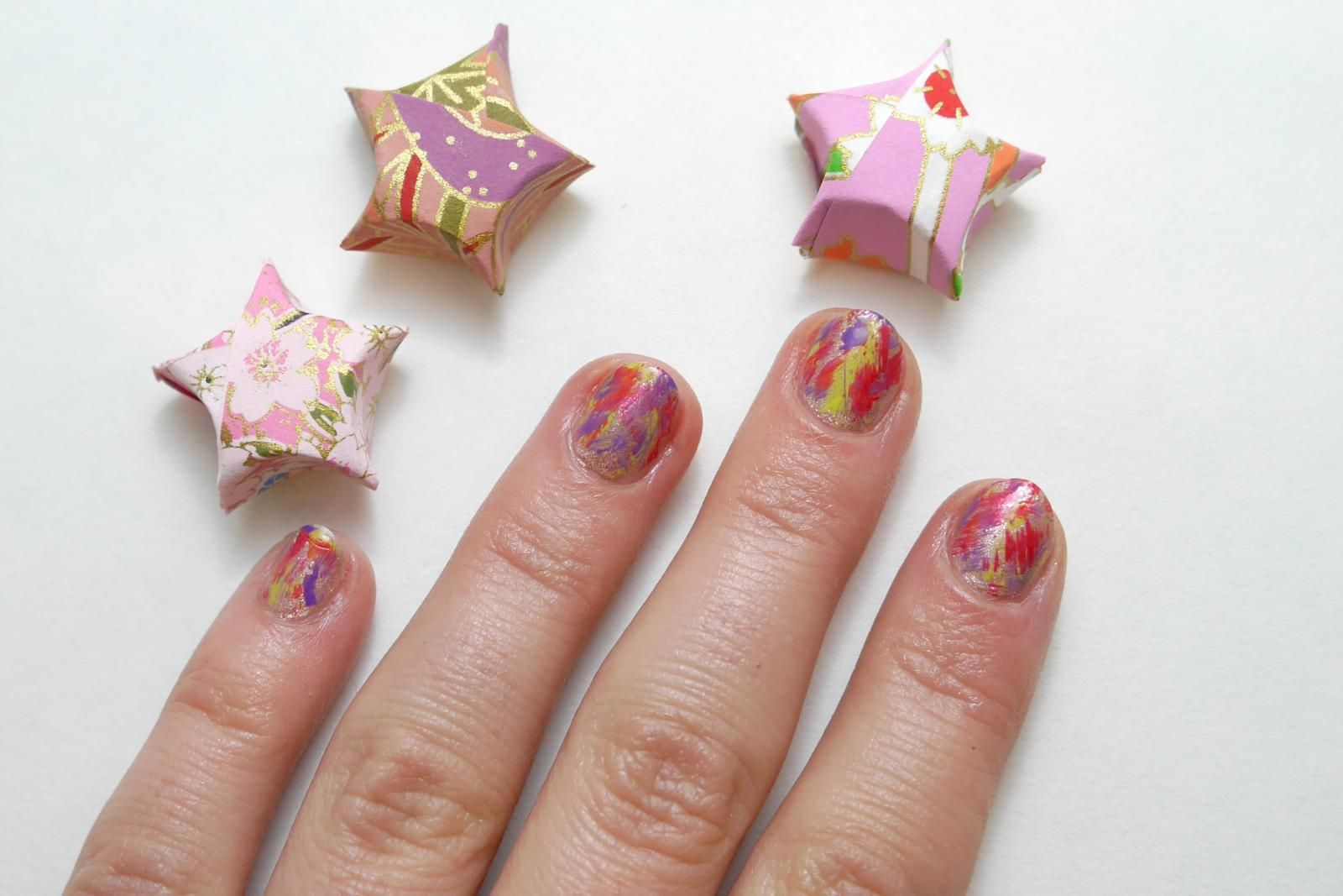 A Drybrush Manicure You Can Do While Watching TV Without