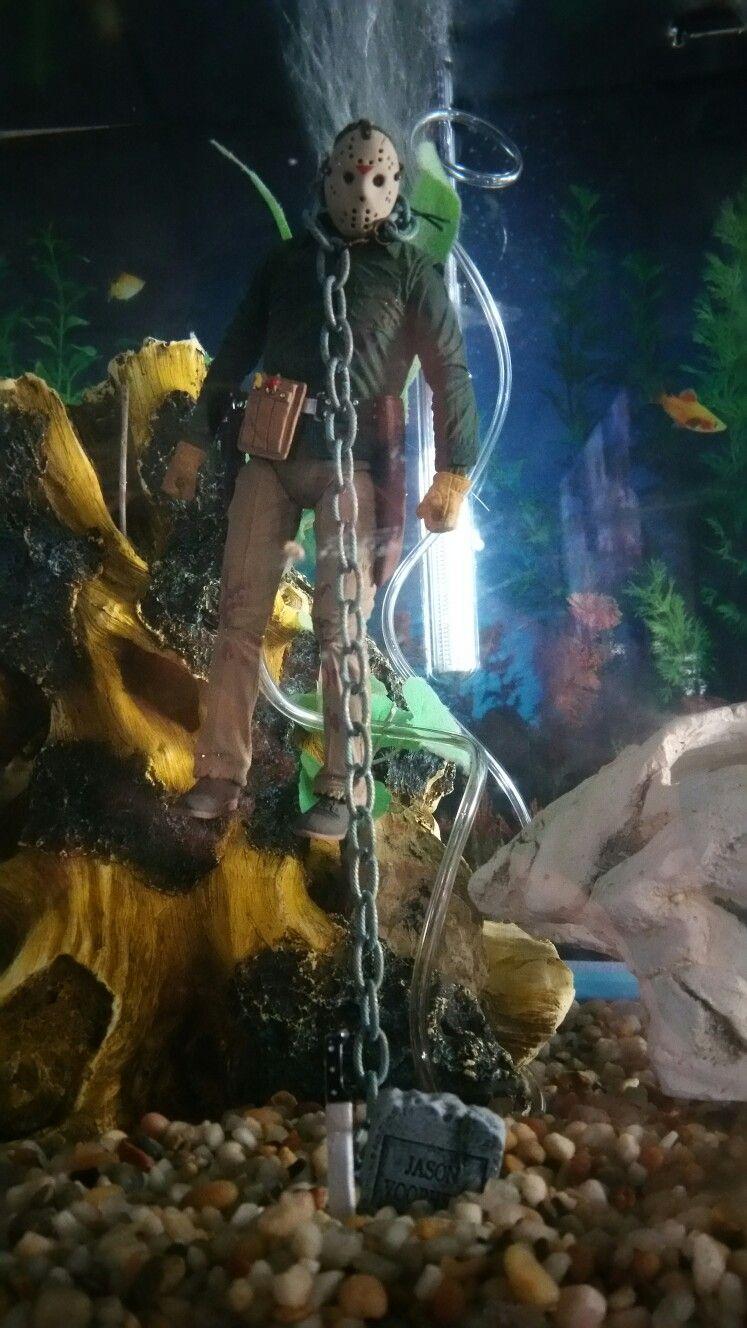 Pin By Stella Lopez On Friday The 13th Fish Tank Display Horror Movie Art Fish Tank Themes Horror Villians