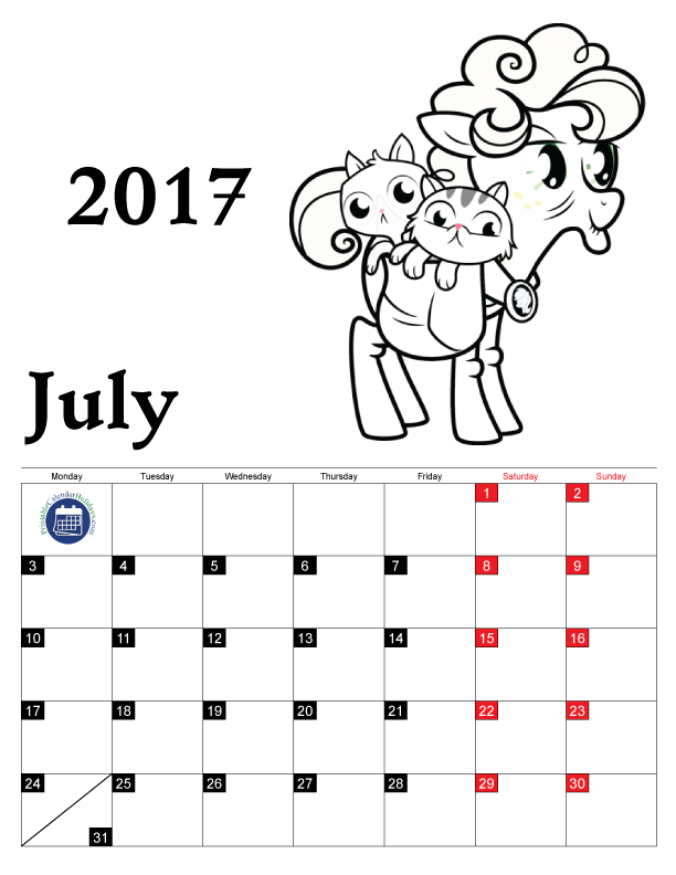 Coloring Pages Calendar 2017 for Kids - Free Printable Calendar 2016 ...