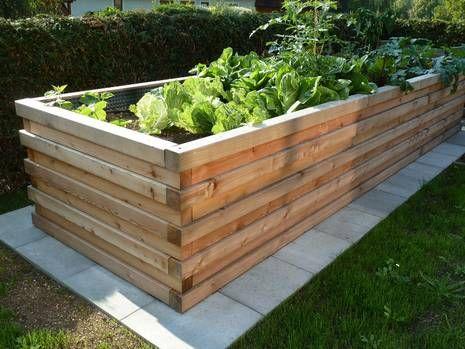 hochbeet selber bauen, diy, holz, kanthölzer, gestapelt, foto, Garten und Bauen