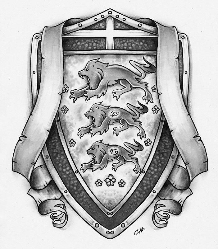 shield tat design by pencil chewer zg r bal pinterest tatting rh pinterest com au knight shield tattoo designs raider shield tattoo designs