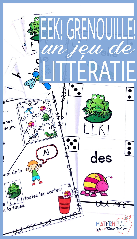 Eek Grenouille Un Jeu Qui Travaille Les Noms Des Lettres Les Mots Frequents Literacy Centers Kindergarten Student Encouragement Sight Words