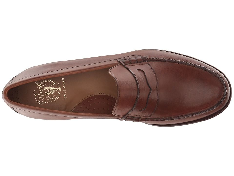 440ac1fa513 Cole Haan Handsewn Penny Loafer Men s Slip on Shoes British Tan Handstain
