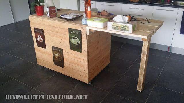 Mueblesdepalets.net: Mueble de cocina auxiliar hecho con palets ...
