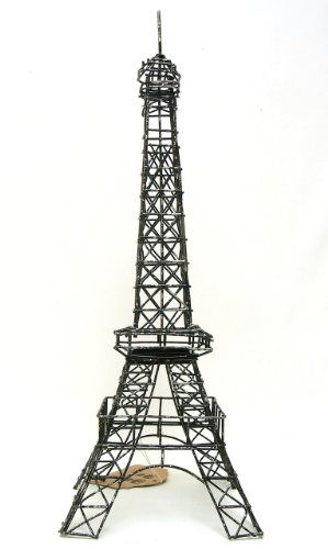 Eiffel Tower Paris France 20 Black Metal Wire Statue M15 Decor
