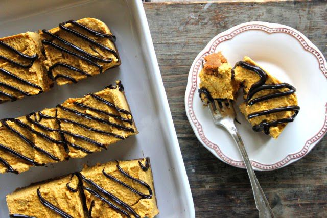 Gingerbread Pumpkin Cheesecake with Choc Shot Drizzle