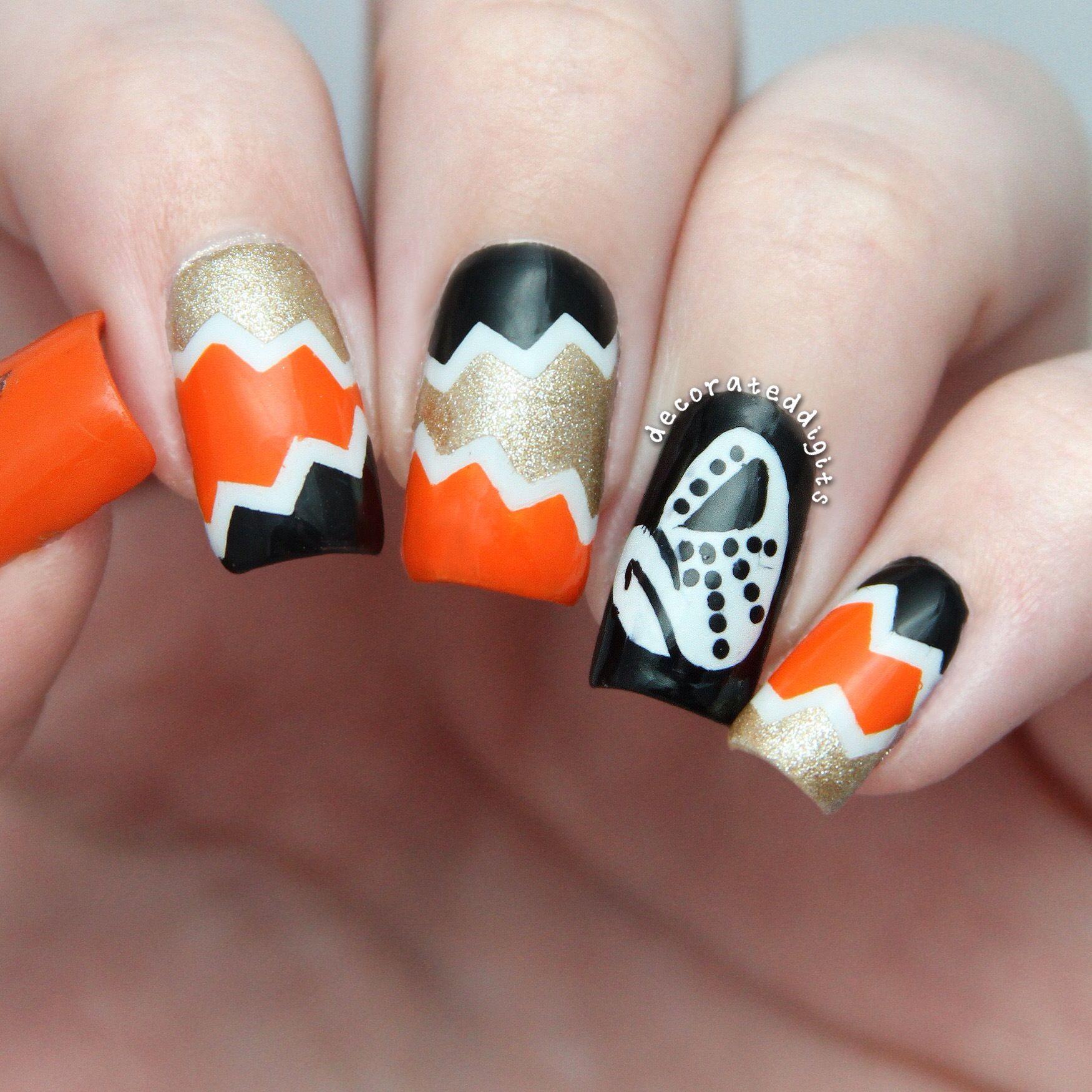 Wildwing NHL Anaheim Mighty Ducks hockey nails by decorateddigits ...