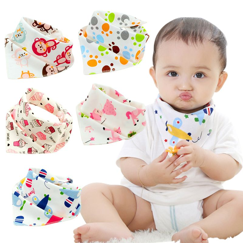 10Pcs//Set Cotton Baby Bibs Boy Girls Saliva towels infant Bibs waterproof New