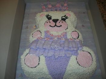 Ballerina bear birthday cake