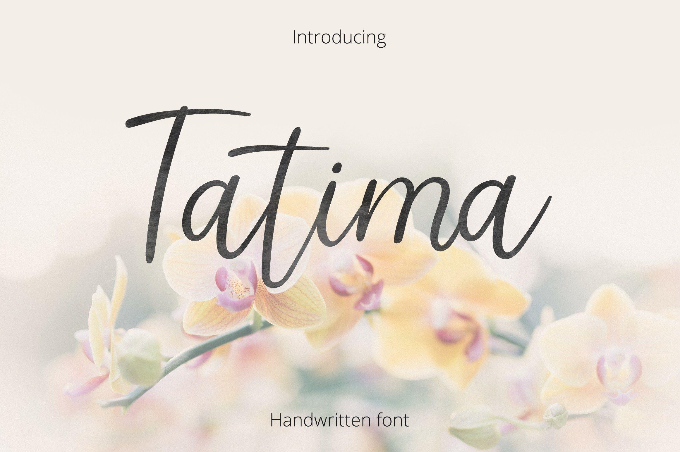 Tatima Handwritten Script Font http//www.designshare
