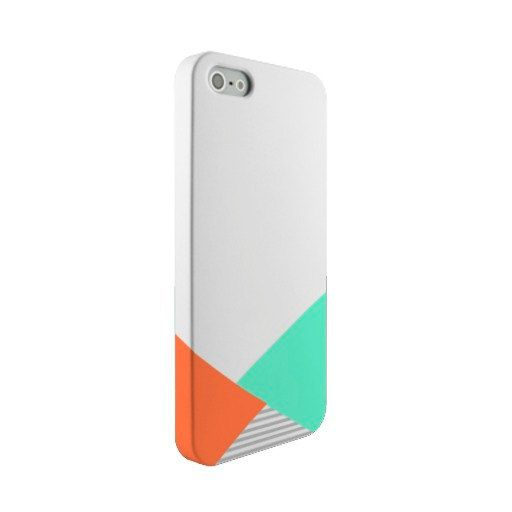 Coral and Bright Aqua Triangle Design with Gray Stripes | iPhone Case | ChicagosOwn | Samsung Galaxy Phone Cases Also Available