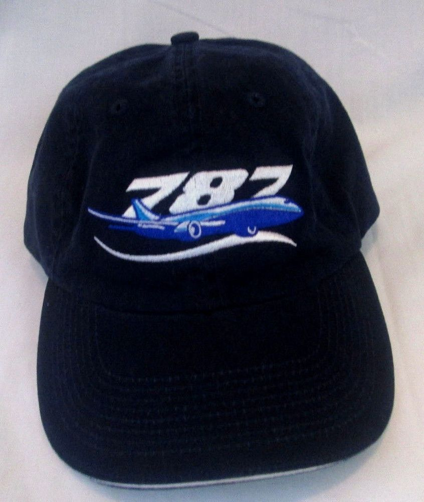 Boeing 787 Authentic Baseball Hat Blue White Airplane Logo Adjustable Cap  NEW  Boeing  BaseballCap 7a20305b8a4