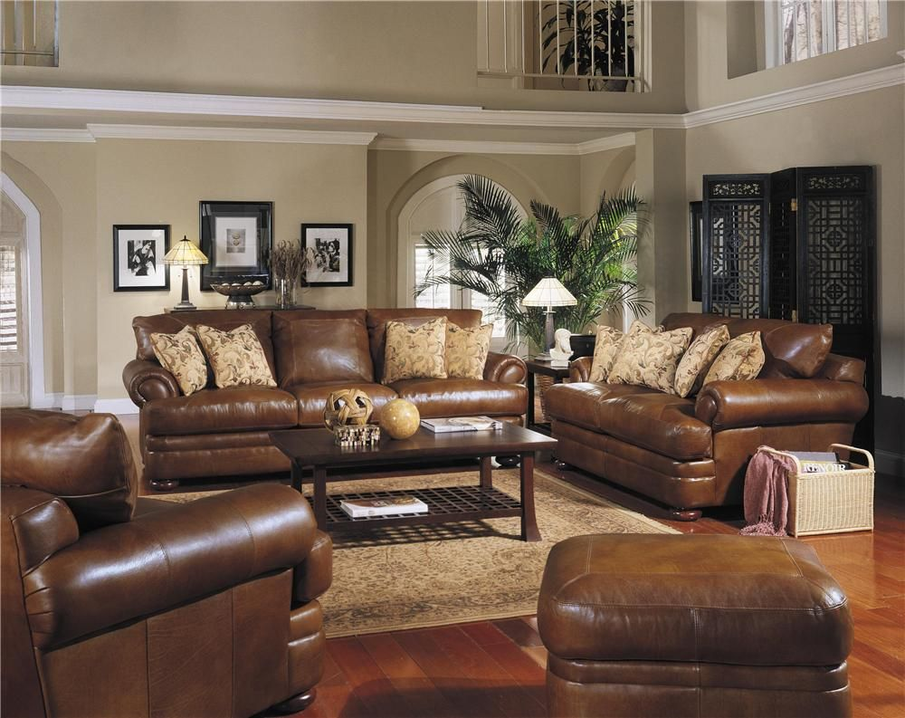 Leather Sofa Comes as a Loveseat Sectional  King Chair