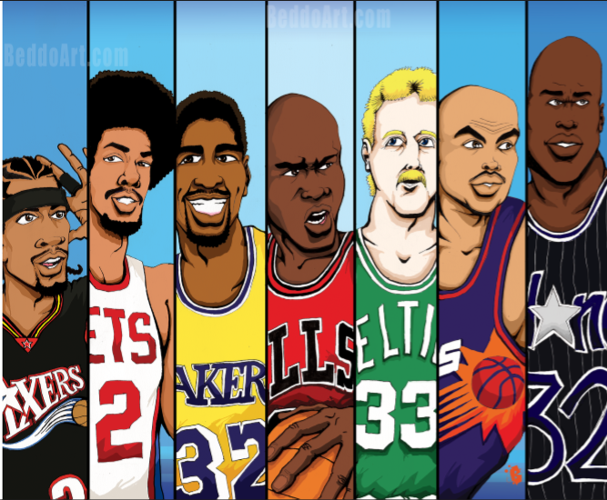 Nba Old School Nba Basketball Art Basketball Players Nba Nba Basketball