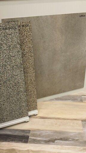 Da #Nuovo Corso.  Incredibili riproduzioni di pietre, legni e superfici in cemento.  Oggi lavoriamo alle copertine.  Seguiteci! #Cersaie