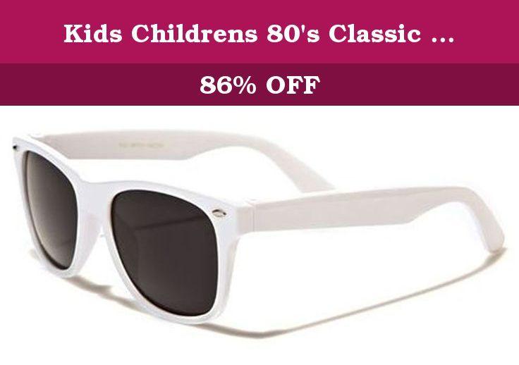 297f4da36727b Kids Childrens 80 s Classic Vintage Retro Style Sunglasses - (White). Kids Wayfarer  Sunglasses.