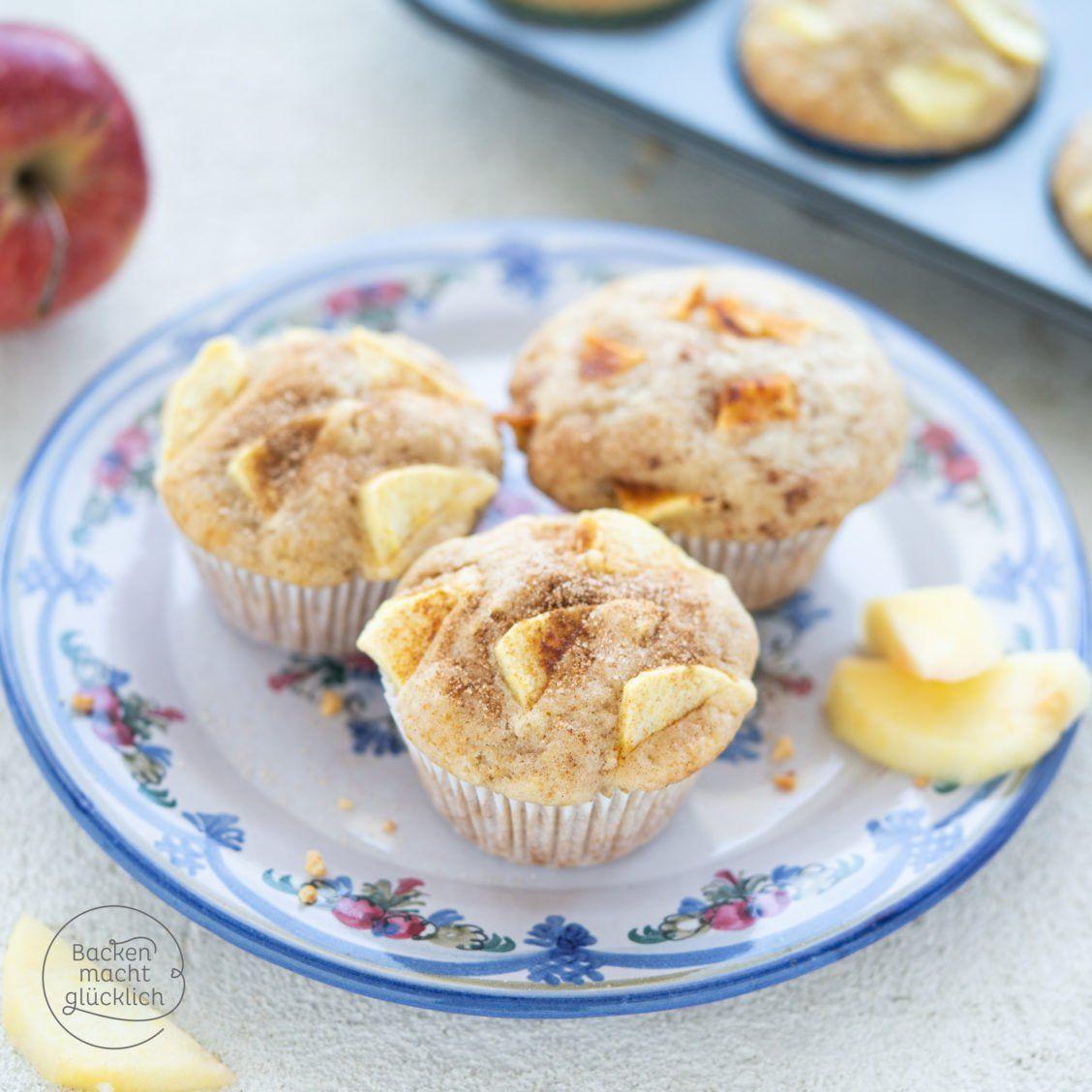 Einfache saftige Apfel-Muffins mit Joghurt   Backen macht glücklich