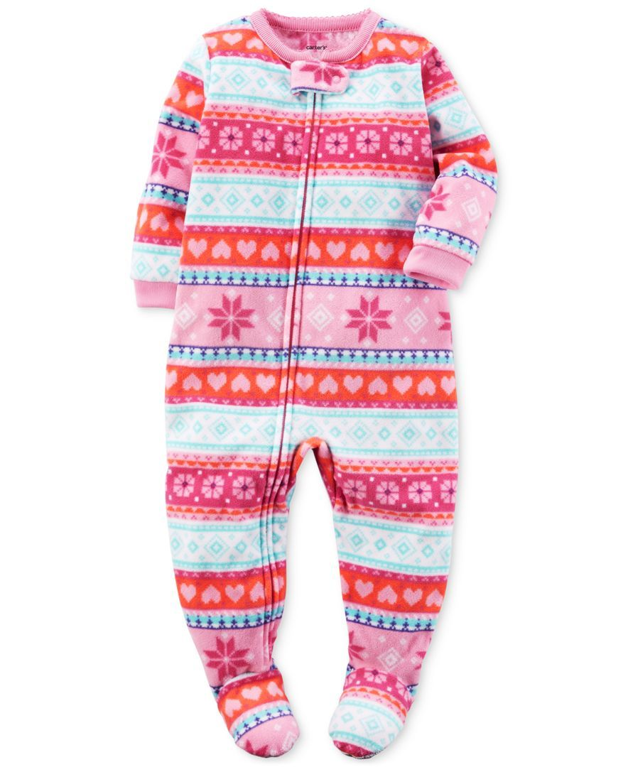 9138ae100069 Carter s 1-Pc. Fair Isle-Print Footed Pajamas