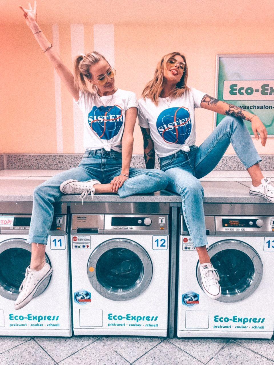 2er Set Hamburger Haenger® Sister Space T-Shirt Weiss #outfitinspo